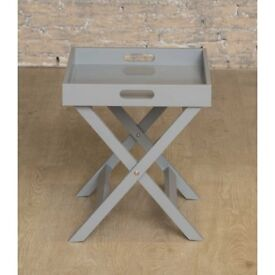 new grey or white folding tray/side table
