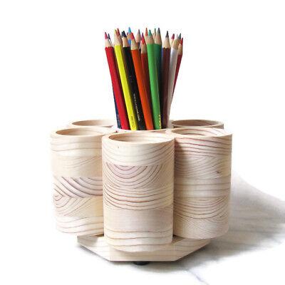 Studio Rotating Colored Pencil Holder Organizer Holds 200 Pencils Handmade Usa