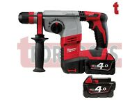 Milwaukee HD18HX-402C M18 Compact 3-Mode SDS Hammer Drill with 2 x 4.0Ah Batteries