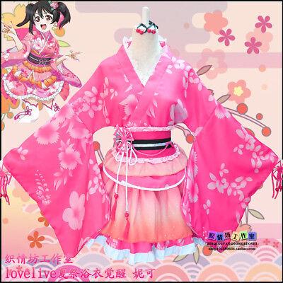 Anime Love Live Yazawa Nico kimono Girl Cosplay Dress Costume Role Play