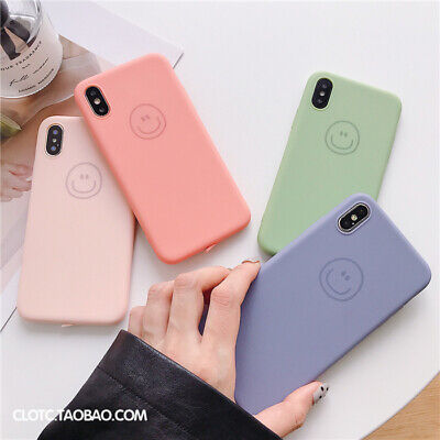 Candy For Cheap (For iPhone X XS MAX XR 6 7 8 Plus Hybrid Silicone Candy Smiling Face Cheap Case)