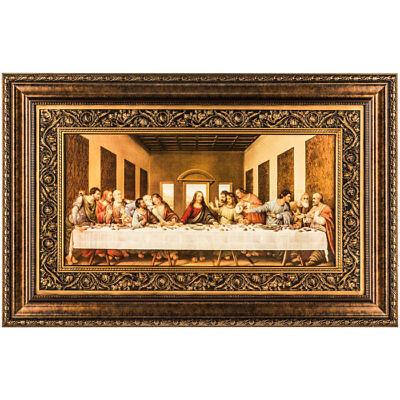 Traditional Last Supper Framed Wall Decor Jesus Mary Leonardo Da Vinci Replica