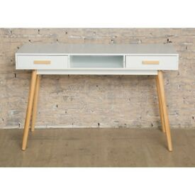 new white scandinavian desk