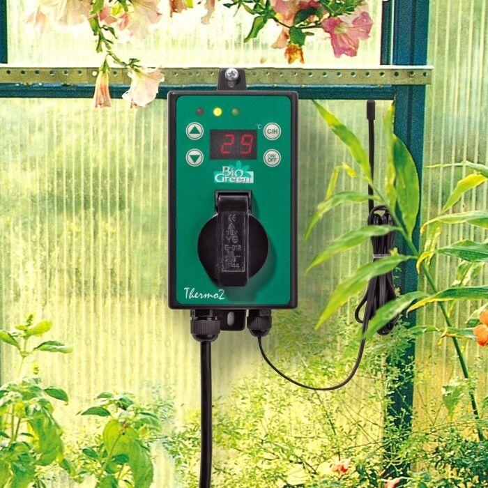 BIOGREEN  Thermo 2,  Thermostat, Temperraturregler, Gewächshausheizung