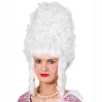 Renaissance Perücke (Renaissance-Perücke Lady Pompadur, weiß    )