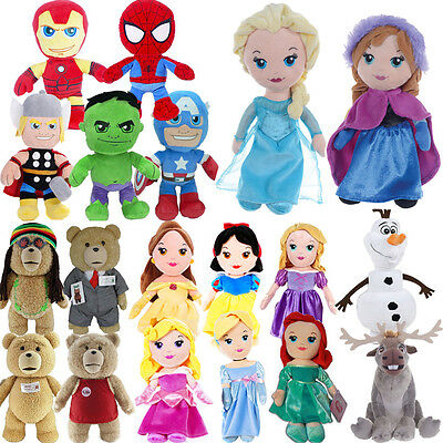 OFFICIAL DISNEY FROZEN MARVEL PRINCESS PLUSH SOFT CUDDLY TOY FUN KIDS TEDDY BEAR