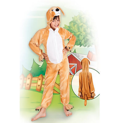 Hundekostüm Overall für Kinder Karnevalskostüm flauschig mit Kapuze - Flauschigen Hunde Kostüm