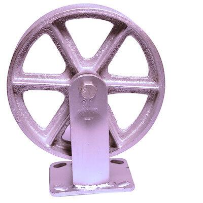 Heavy Duty 8 X 2 Rigid Caster With Steel Wheel