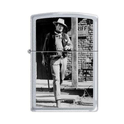 Zippo Lighter - John Wayne Rio Bravo Satin Chrome - 853286