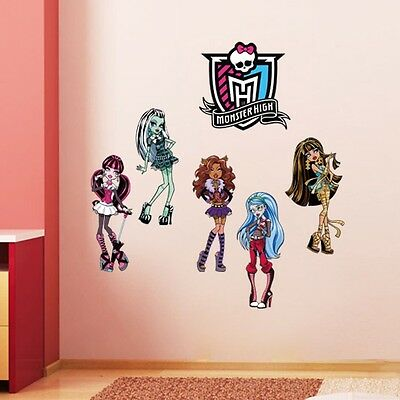 Monster High Cartoon Wall Sticker Mural Vinyl Decal Kids Room Decor Pretty CON