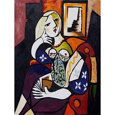 Woman With Book Pablo Picasso Hd Canvas Art Print Oil Painting  Decor 12  X16