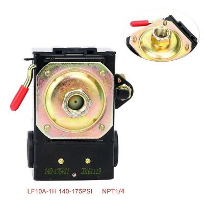 Heavy Duty Pressure Switch For Air Compressor 26 Amp 140-175 Psi Single Port