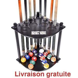 Etagere pour baguette /  Cue Rack -8 Pool Billiard Stick and Ball Floor Stand