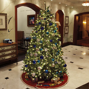 7.5 FOOT CHRISTMAS TREE W/WHITE LIGHTS (NEW UNOPENED)(Paid $500
