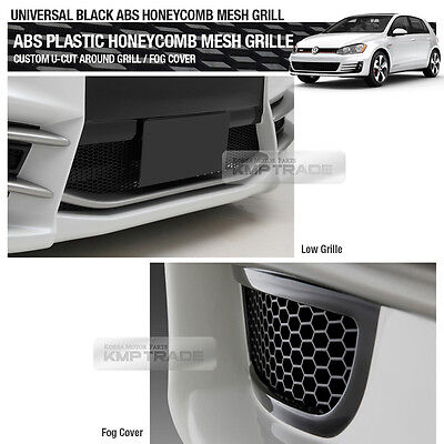 "5_Black Honeycomb Hexagon Mesh ABS Grille Custom DIY 42""x15"" for Sedan SUV RV"