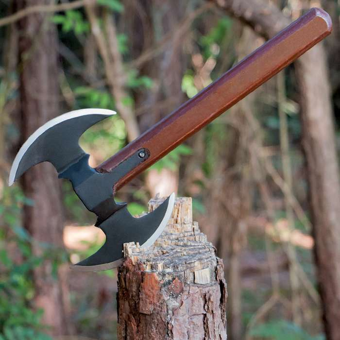 """16"""" SURVIVAL TOMAHAWK DOUBLE BLADED THROWING AXE BATTLE Hatchet Hunting Knife"""