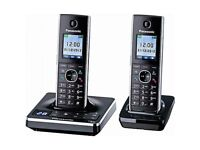 Panasonic KX-TG8562E Twin Cordless Digital Phones Answering Machine Black