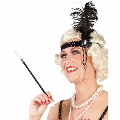 Zigarettenspitze, schwarz, 34 cm Kostümzubehör Karneval Zigarettenhalter - Zigaretten Halter Kostüm