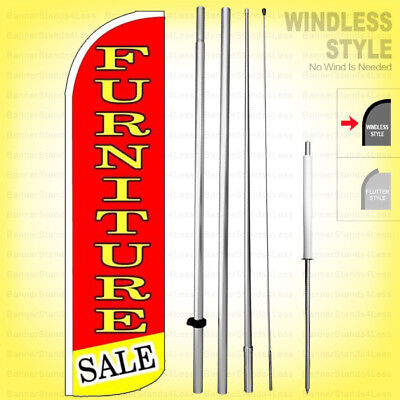 Furniture Sale - Windless Swooper Flag Kit 15 Feather Banner Sign Rq100-h