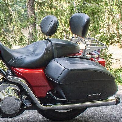 Passenger Backrest Sissy Bar W/ Luggage Rack For Harley Touring FLT FLH 97-08