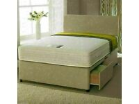BEST EVER BRAND NEW DOUBLE/KING SIZE DIVAN BED BASE WITH SEMI ORTHOPEDIC MATTRESS 🐤