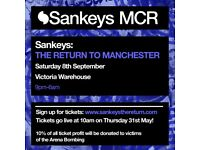 Sankeys The Return VIP ticket at Victoria Warehouse