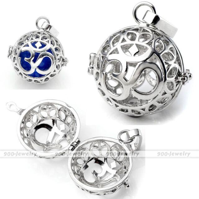 1x Om Symbol Chime Mexican Locket Wish Pregnant Harmony Ball Beads