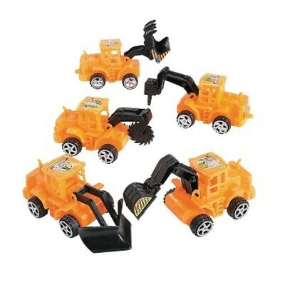 Pull Back Racers Plastic Tractor Favors Decorations Birthday Supply 6 ct - Tractor Favors