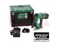 Hitachi NT1850CBSL/JX 18G Straight Brad 18v Brushless Nailer 2 x 3Ah Batteries