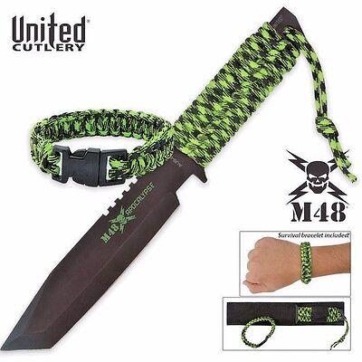 United Cutlery M48 Apocalypse Zombie Fighting knife Survival Paracord Bracelet