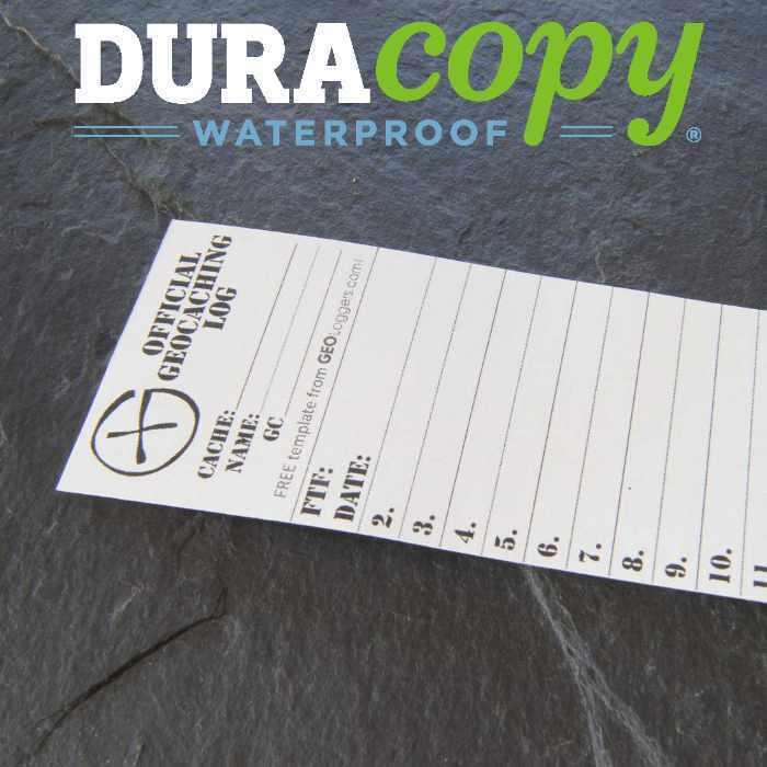 20 x *NEW* GEOLoggers SMALL 4.5cm Geocaching Log Sheet DURACopy WATERPROOF RITR!