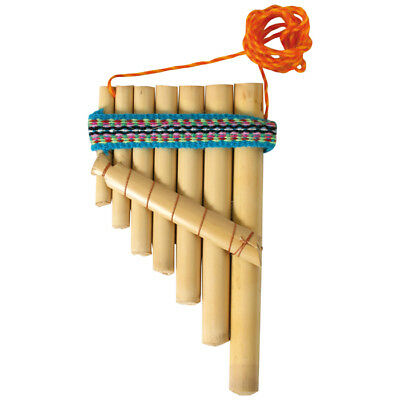 Panflöte Aus Bambus Pan-flöte 7 Röhren Mit Umhängeband