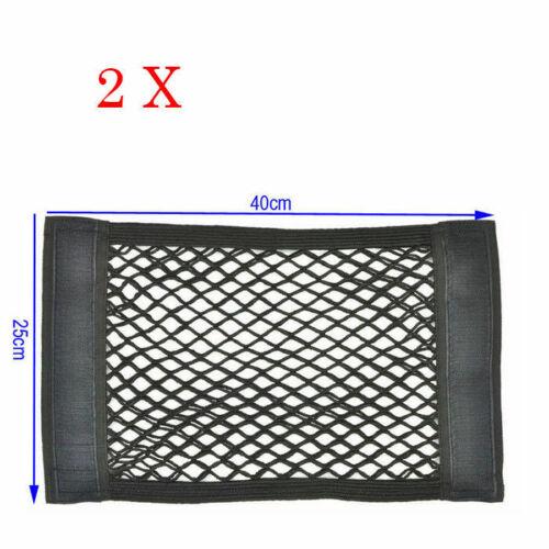 2x Auto Netztasche Autositzrück mit Klett Kofferraumnetz Für BMW schwarz 40*25cm