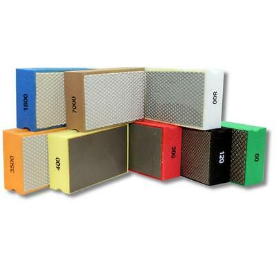 KENT 8 Premium Assorted Grits Diamond Hand Polishing Pads For Granite Glass