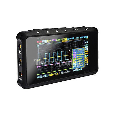 Portable DSO203/Quad Mini Digital 4 Channel Oscilloscope Pocket Sized Black US