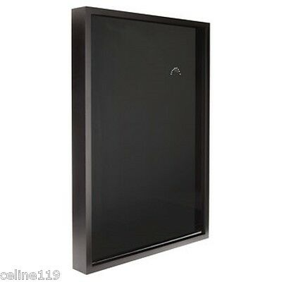 (BLACK SPORTS JERSEY DISPLAY CASE  SHADOW BOX FRAME  24