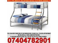 BRAND NEW Single Double Alaska Triple MEtal Bunk Bed with Original Deep Quilted Mattresses