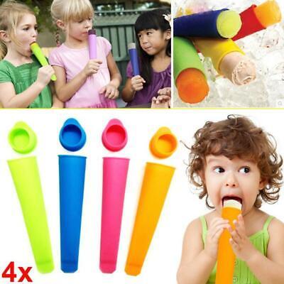 4/6pcs Ice Cream Silicone Lolly Mould Push Up Frozen Stick Yogurt Jelly Maker