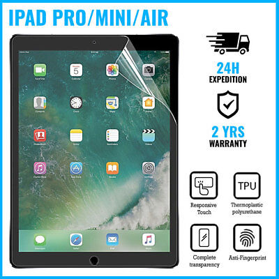 Screen Protector LCD PET Foil Film iPad Mini 1/2/3, iPad 2/3/4, iPad Air/Pro A+ (Ipad 4 Screen Protector)