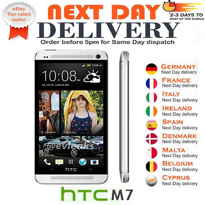 NEW BRAND NEW HTC ONE M7 - 32GB 4G GPS WIFI UNLOCKED 4.7'' ANDROID SMARTPHONE SILVER