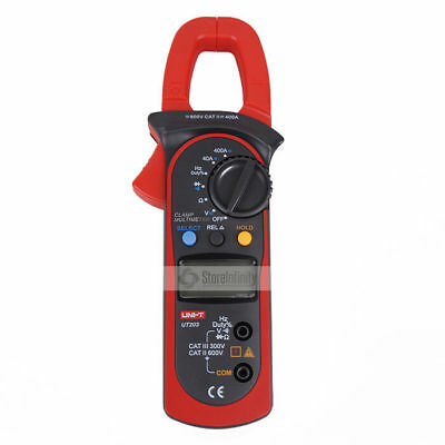 UNI-T UT203 Digital Handheld Clamp Multimeter Tester Meter DMM CE AC DC Volt  Digital Clamp Multimeter Tester