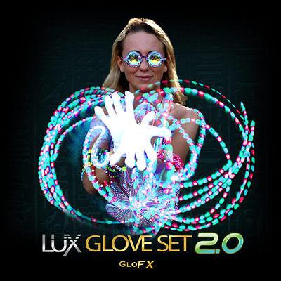 Lux Glove Set 2.0 - Advanced Pro Lightshow Gloves - Rave Light Strobe