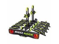 BUZZ RACK Buzzwing 4 bike tilting and folding cycle carrier for towbar fitting