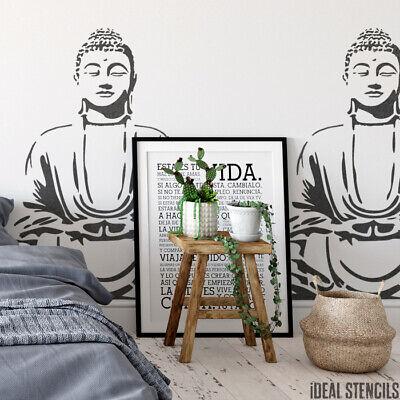 Buddha Meditieren (Buddha Meditieren Schablone Wanddekoration Kunst Handwerk Malen Wiederverwendbar)