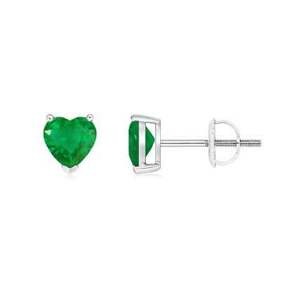 14k white gold 0 7ct natural emerald