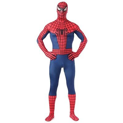 Spiderman Superhero Costume Halloween Party Adult Cosplay bodysuit Fancy Dress