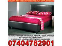 BRAND NEW SINGLE/DOUBLE/KING SIZE LEATHER BED FRAME WITH CHOICE OF MATTRESS