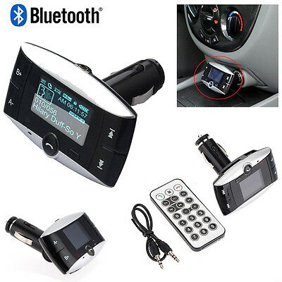 "1.5"" LCD Car Kit Bluetooth MP3 Player SD MMC USB Remote FM Transmitter Modulator on Rummage"