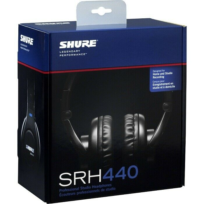 Shure SRH440-BK SRH-440 Professional Audio Studio Headphones