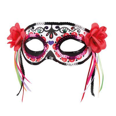 Augenmaske Tag der Toten Mexiko Halloween Kostümzubehör Karneval Fasching